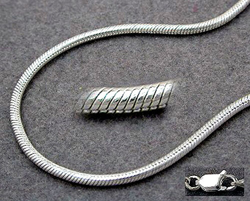925 ECHT SILBER *** Kette Schlangenkette 1,5mm 36-38-40-42-45-50-55-60-70-80 cm