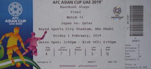 mint TICKET Namen Finale AFC Asian Cup 2019 Qatar Katar Japan Match 51