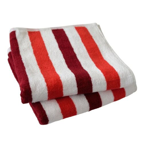 Dyckhoff Planet BIO Baumwolle, Streifen: rot Gots Handtuch 50//100 cm
