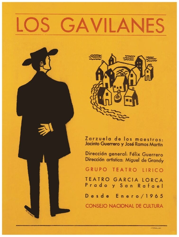 9760.Los gavilanes.man looking at small town.POSTER cor Home Office art