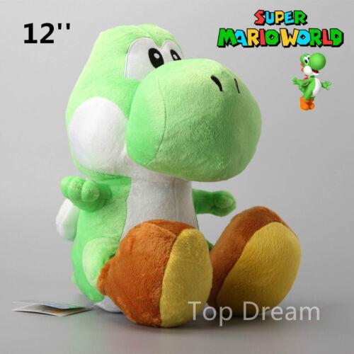 12/'/' Super Mario Bros Green Yoshi Plush Toys Soft Stuffed Dragon Doll Teddy BNWT