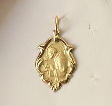 18k Gold  St Francis of Assisi Medal Medium, 1.5 grams, Catholic