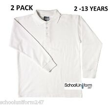 49af59411 George Asda Back School 2 Pack Teflon Polo Shirts 5 - 6 Years Stay ...
