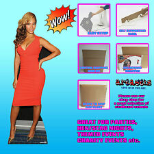 Beyonce Knowles LIFESZE CARDBOARD CUTOUT STANDEE STANDUP R&B Soul Pop Star Music