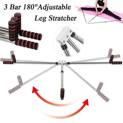 3 Bar Leg Stretcher Split Stretching Machine Martial Arts Yoga Flexibility Train