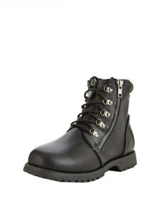 V by Very Baker Zip Worker Infant Boots In Black Size UK 10