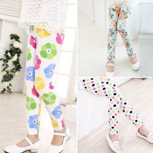 Toddler-Kid-Baby-Girl-Leggings-Pants-Flower-Floral-Printed-Elastic-Long-Trousers