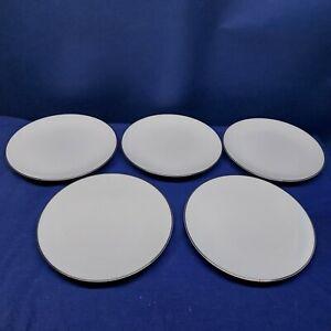 Vintage Noritake Fine China COLONY Set/5 Salad Plates #5932 Platinum Rim