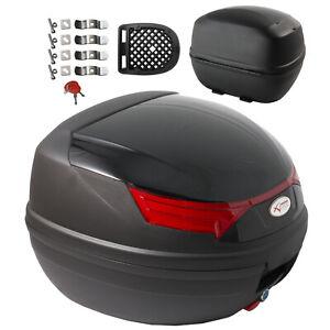 Bauletto-Moto-Scooter-Baule-Valigia-Rigida-Universale-Nero-Top-Case