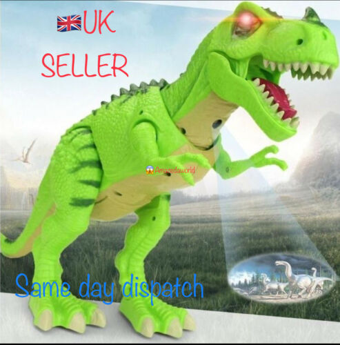 Brand new battery operated tyrannosaurus// dinosaur 3D projector sound light gift
