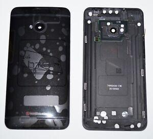 Original HTC One M7 801c 801e 801n 801s Akkudeckel Backcover Tasten Schwarz