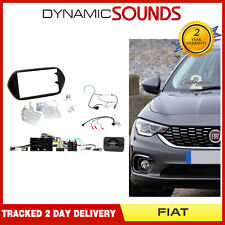 CT23FT22 Black Double Din Fascia Surround Panel Trim For Fiat 500x 2015 Onwards