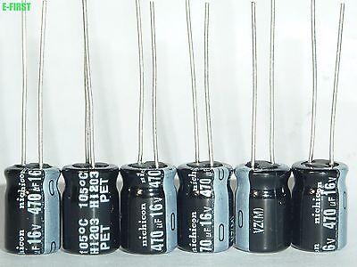 20x Nichicon HM 1000uF 10v Low-ESR radial capacitors caps 105C 8mm Low Impedance