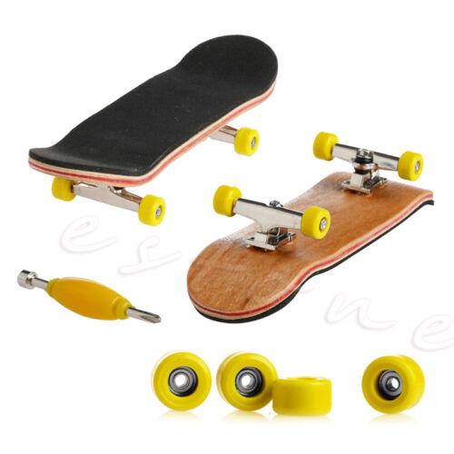 1Pc Wooden Deck Fingerboard Skateboard Sport Games Kids Gift Maple Wood Set New