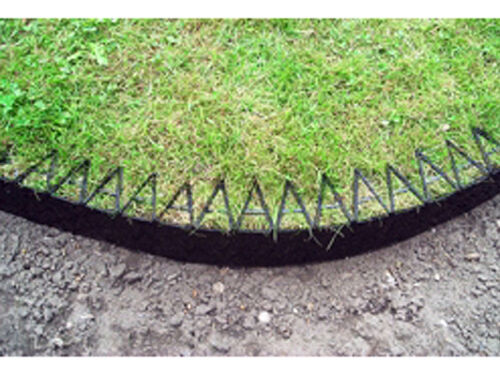 Smartedge Easy Lawn Edging Plastic Garden Border Neat Edge Tidy Black Smart Edge