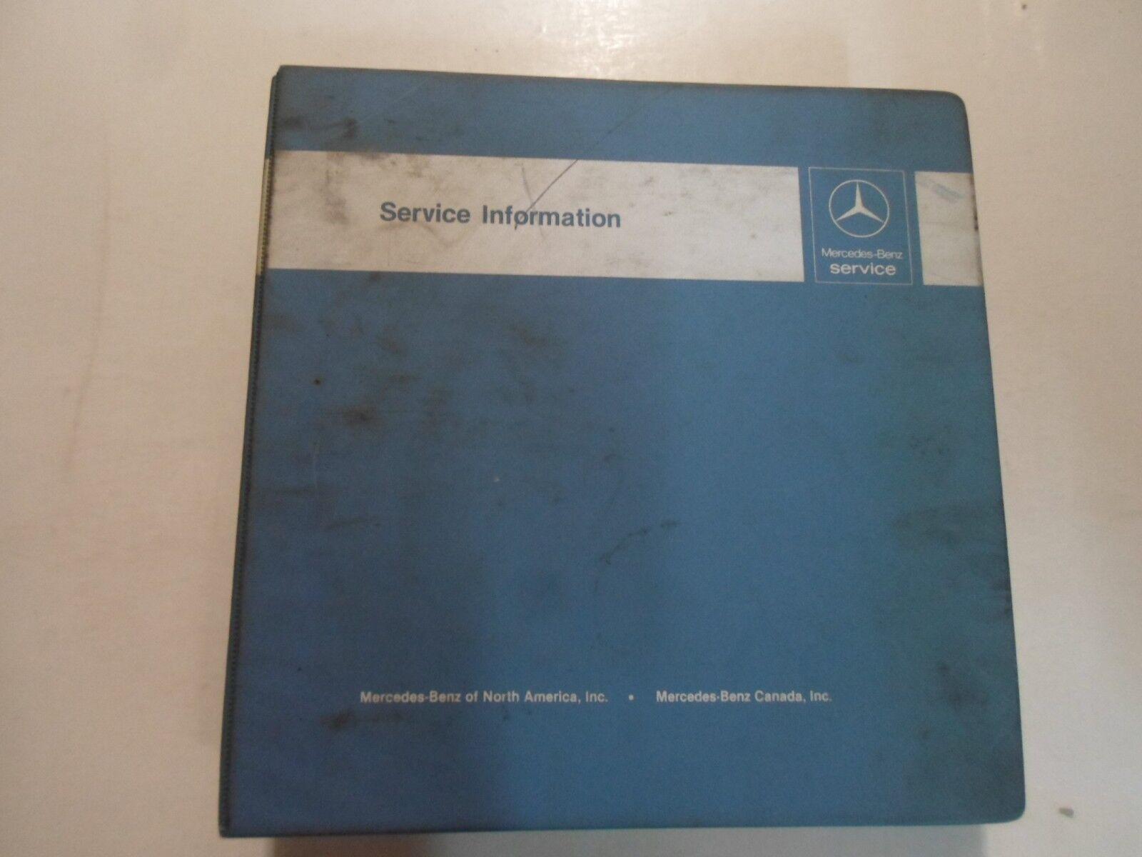 1986 87 1988 Mercedes Benz Model 124 123 107 Service Information Manual BINDER