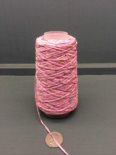 100 G Rosa Con Manchas De 45/% Algodón Mix Cinta Hilo f1636