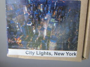 premi r ikea bild leinwand city lights new york 200x140cm ebay. Black Bedroom Furniture Sets. Home Design Ideas