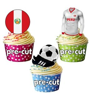 World Cup Football Shirt and Flag Themed Keyring Team Peru