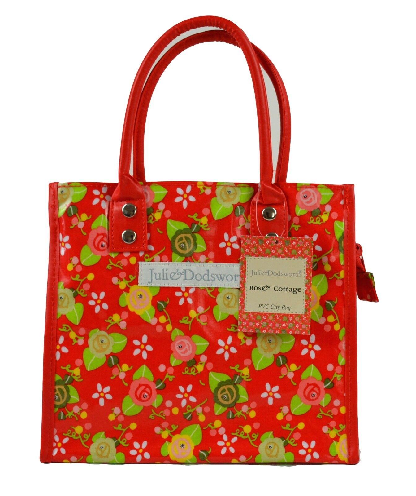Julie Dodsworth PVC City Bag Zip /& Clip Top-Small Tote  Choose Design
