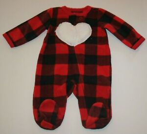NEW Carter/'s Fleece Gown PJs Girls /& Doll Buffalo Check Red NWT 3T 4T
