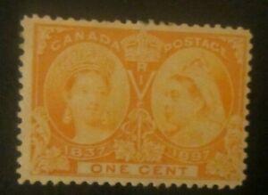 Canada-51-1-Cent-Orange-Queen-Victoria-Diamond-Jubilee-Issue-MH
