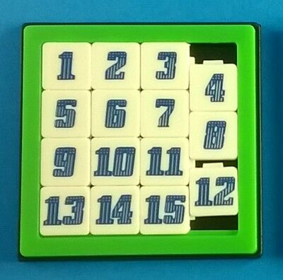 Fun Math Brain Teaser Puzzle Number Slide Game Sliding 15 Numbers Toy Kids 1 P
