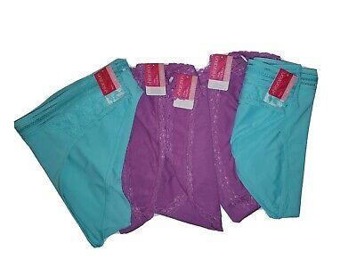 Xhilaration Women's Size M 7-9 White Aqua Checker Cotton Thong Panties NWT