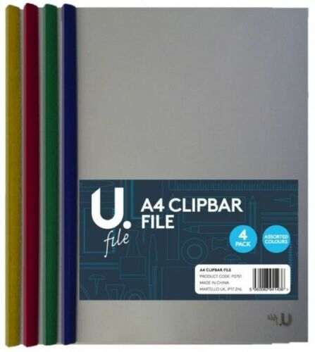 A4 Black Red Green Metal Ring Binder Document Folder Clipbar Lever Arch File