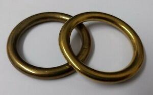 Genuine-British-Army-Horse-Guards-amp-H-Cav-1-1-2-034-Brass-Bridle-Rings-1-Pair-STD20