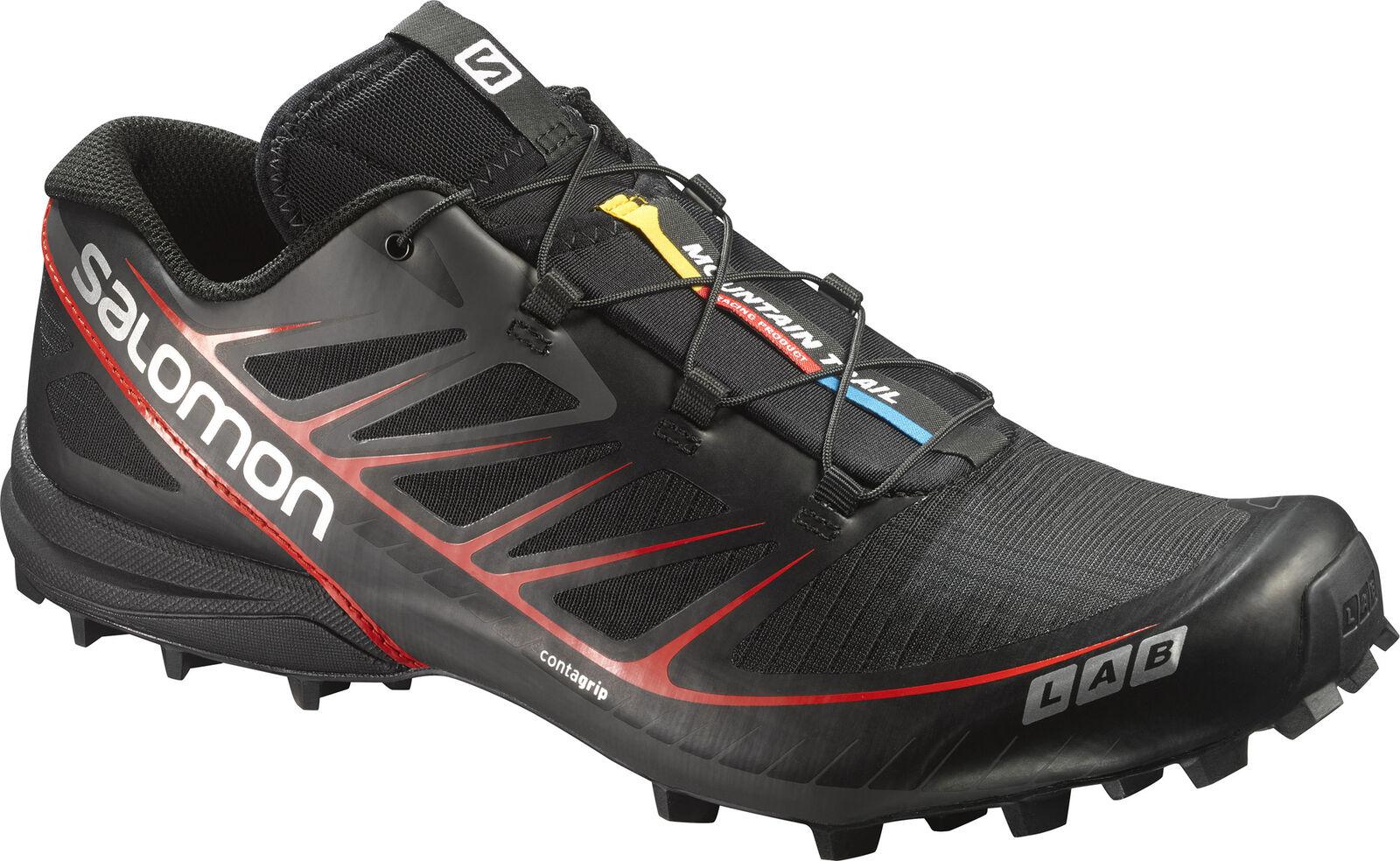 Negro para Hombre Salomon S-Lab velocidad Trail Running Zapatos-tamaños 6-11.5