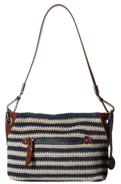 Buy The Sak Crochet Indio Demi Shoulder Bag Navyeggshell Online Ebay