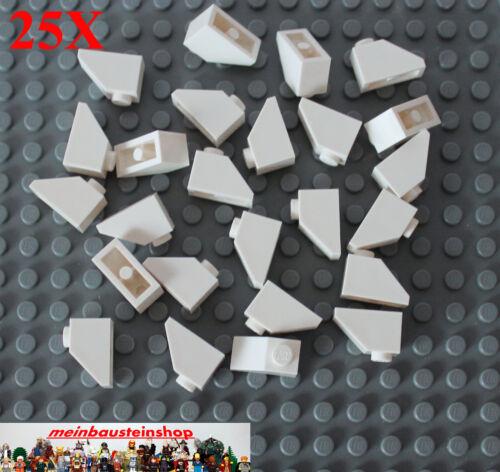 25X Lego® 3040 Dachsteine Roof Slope 1X2 45° Weiß White NEU