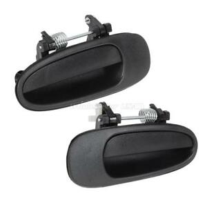 2pcs Smooth Black Outside Front Rear Left Right Door Handle For Toyota Corolla