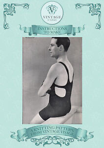 How To Make A 1920s30s Mens Swimming Costumeswimsuit Repro