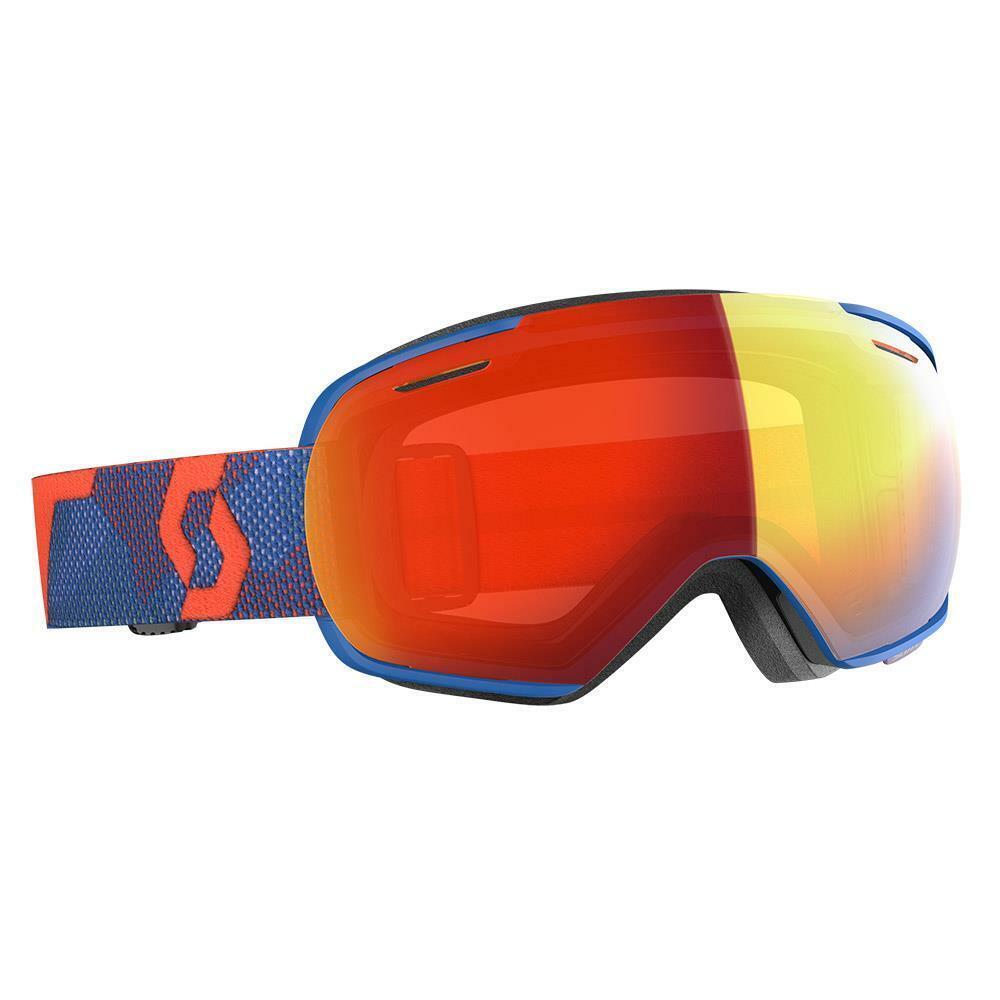Scott Linx Goggles Orange  Blau - Enhancer rot Chrome Lens