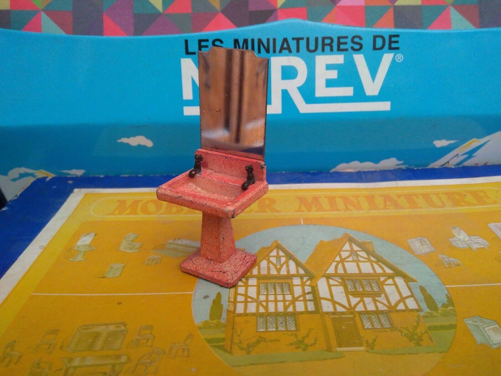 DINKY TOYS FRANCE MOBILIER MINIATURE SALLE DE BAINS REF 104 LAVABO + MIROIR