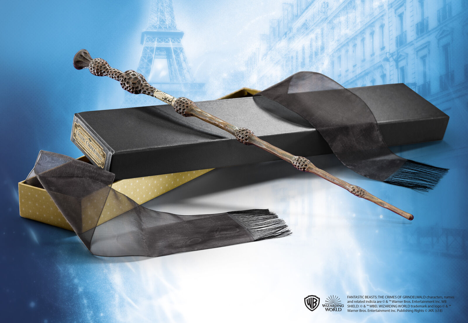 Fantastic Beasts Gellert Grindelwald Magic Wand Zauberstab Noble Collection Collection Collection de2275