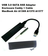 USB 3.0 SATA SSD Adapter Enclosure Caddy + Cable A1369 A1370 A1377 MacBook Air
