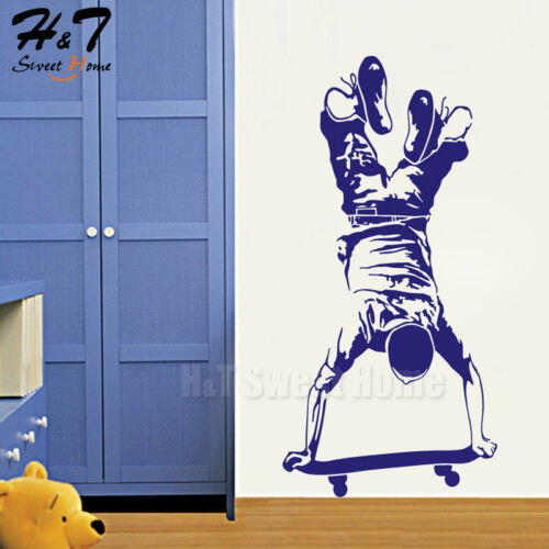 Skater Boy Skateboarding Skate Board Vinyl Wall Sticker Decal Kid Boys Bedroom