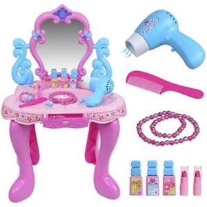 Image Is Loading GIRLS PINK VANITY TABLE CHILDRENS KIDS DRESSING MIRROR