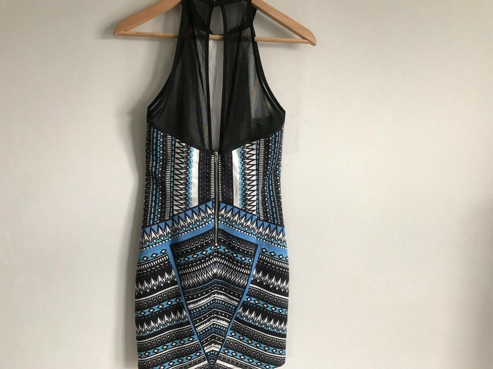 Dotti Mini Short Dress Multi-Color Aztec Print Ro… - image 6
