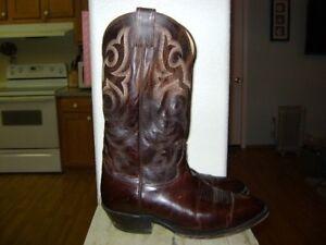 Boots ricamata Cowboy Justin D marrone 2704 in pelle 9 vwzPq5