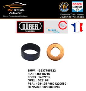 4 Kit joint dinjecteur 2 pi/èces Marque D/ürer 1,6 HDI