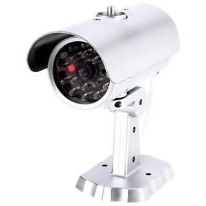 "6"" DUMMY CAMERA Home Security LED Bullet Flashing Light Fake Surveillance CCTV"