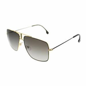 Carrera 1006 S 2M2 Black Gold Metal Square Sunglasses Brown Gradient ... 31a183b32e7f