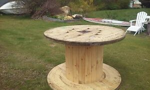 exciting cable spool kitchen table | large industrial wire spool table | eBay