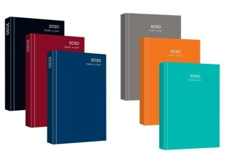 2020 A4 Day to Page Appointment Diary Hardback Casebound  Day to View Diary