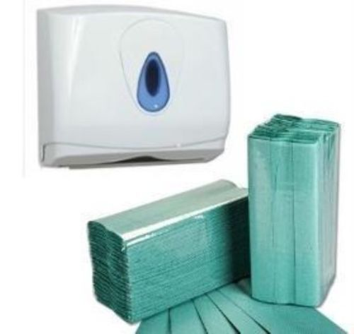 5040 Green C fold 1 Ply Paper Hand Towels tissues /& Dispenser