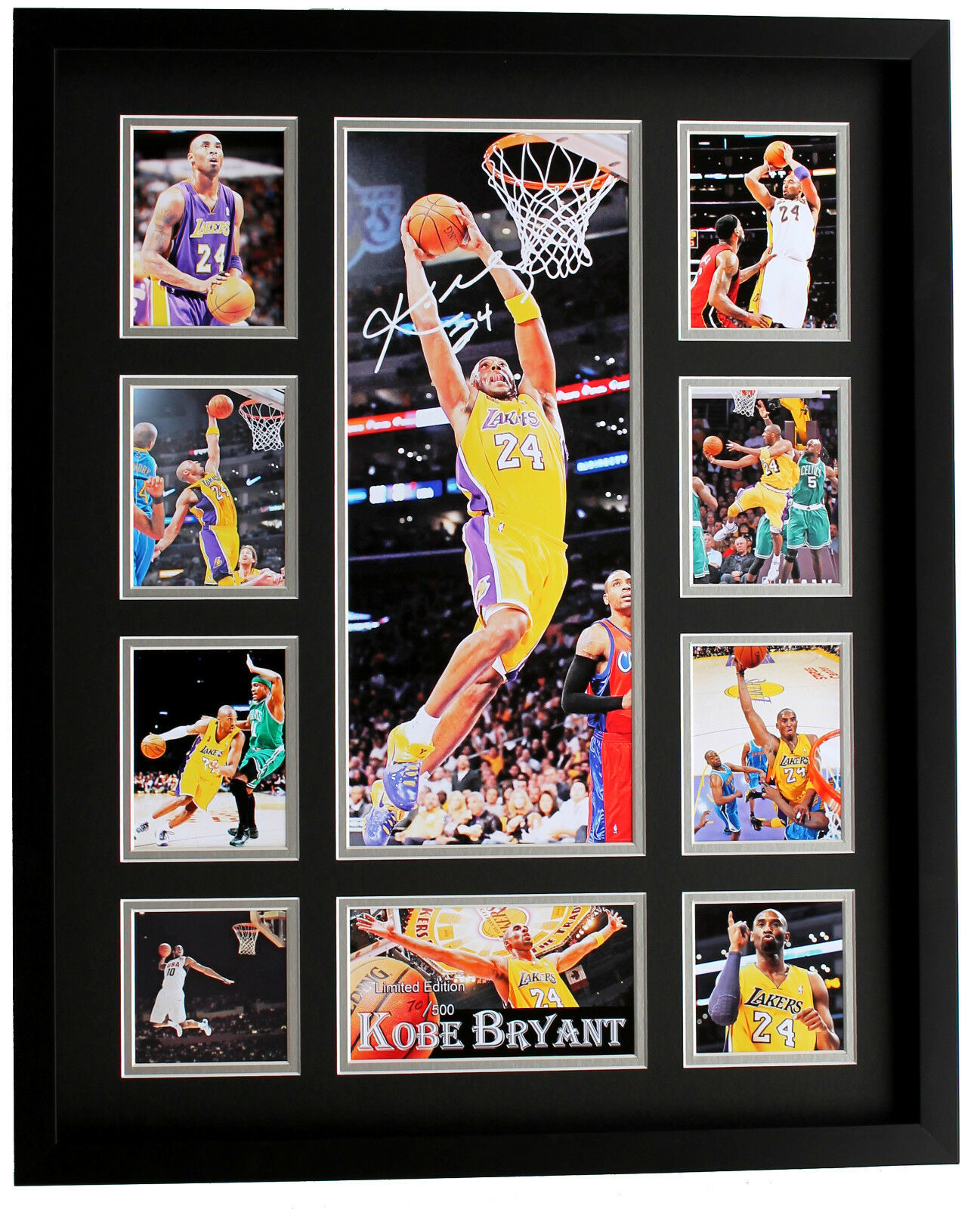 Nuevo Kobe Bryant LA Lakers Enmarcado Firmado Edición Limitada